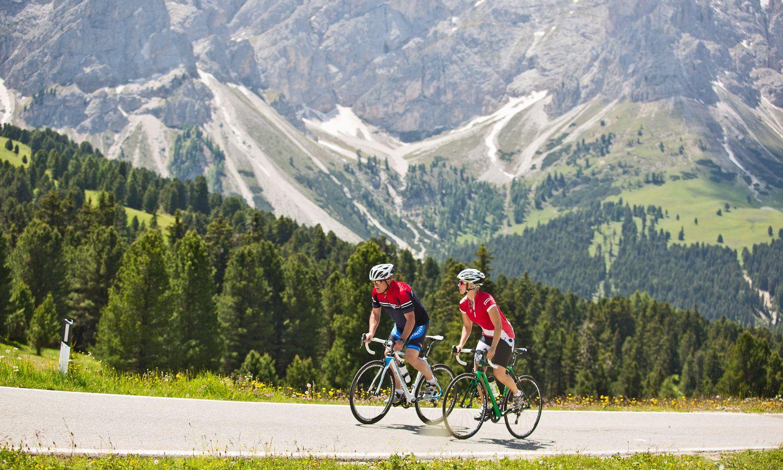 Rennradfahren in den Dolomiten